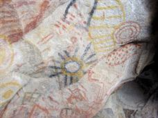 Baja Pictographs similar to Indian Hill Pictographs.