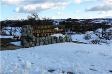 Snow in the Anza Borrego Desert