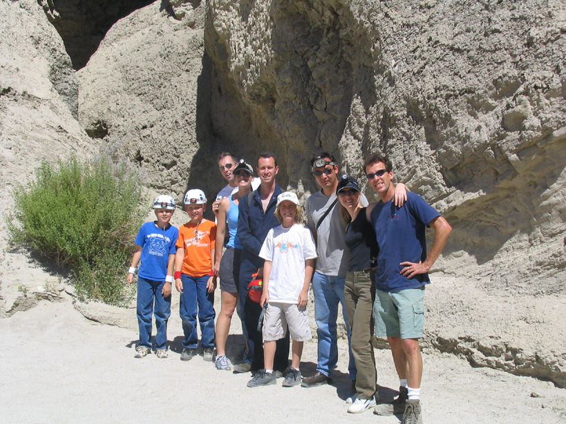 Group Shot in Arroyo Tapiado, Anza Borrego Mud Caves